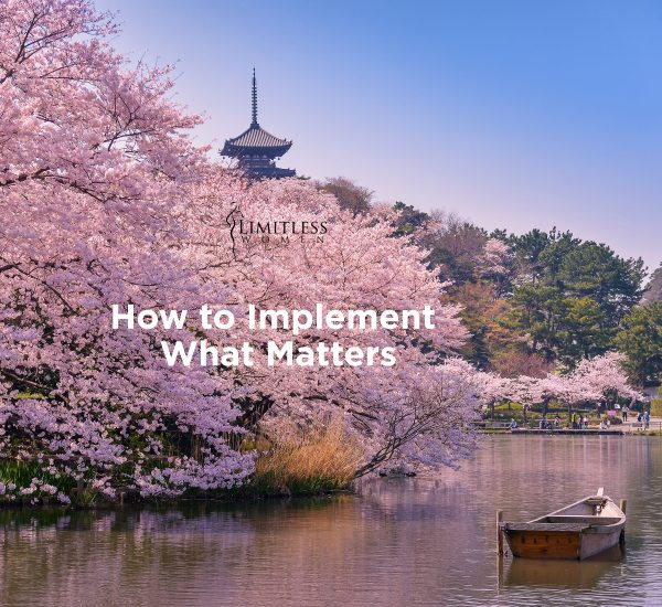 How to Implement What Matters